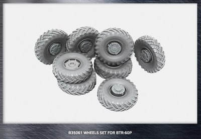 Miniarm 1/35 BTR-60P Road wheels set, 8pcs