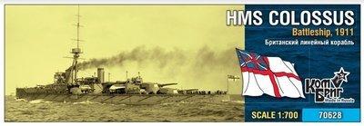 Combrig 1/700 HMS Colossus Battleship, 1911, resin kit #70628PE