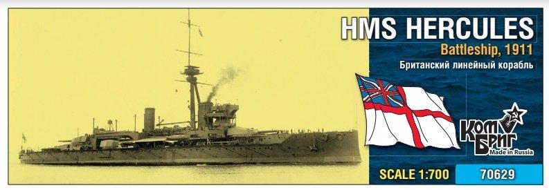Combrig 1/700 HMS Hercules Battleship, 1911, resin kit #70629PE