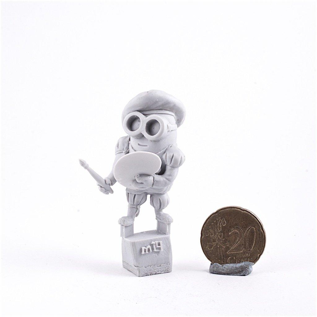 Artist Minion resin figure