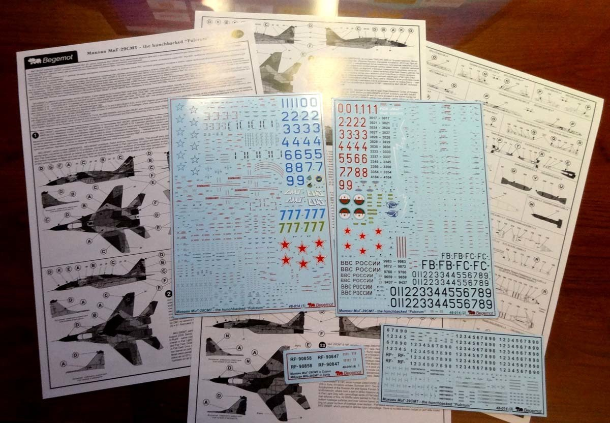 1/48 Mikoyan MiG-29SMT Decal Begemot #48-014