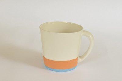 Large Mug - Orange and Blue