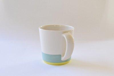 Large Mug - Turquoise and Yellow