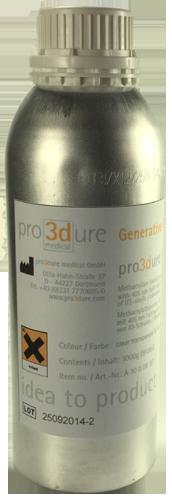 Pro3dure GR-1 Clear 250ml Sample Size P3DGR1CLR-SS
