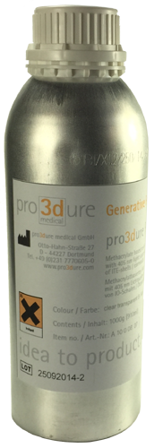Pro3dure GR-1 Clear 250ml Sample Size
