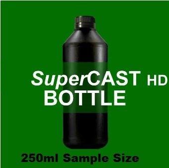 SuperCAST-HD 250ml Sample Size, Dark Green 3D UV Resin for direct casting SCHD-250