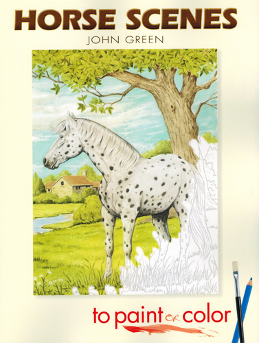 Horse Scenes Painting Book | Realistic Horse Coloring Book