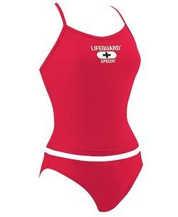 50e565aebb Speedo Lifeguard Red Tankini Top & Bottom Flyback