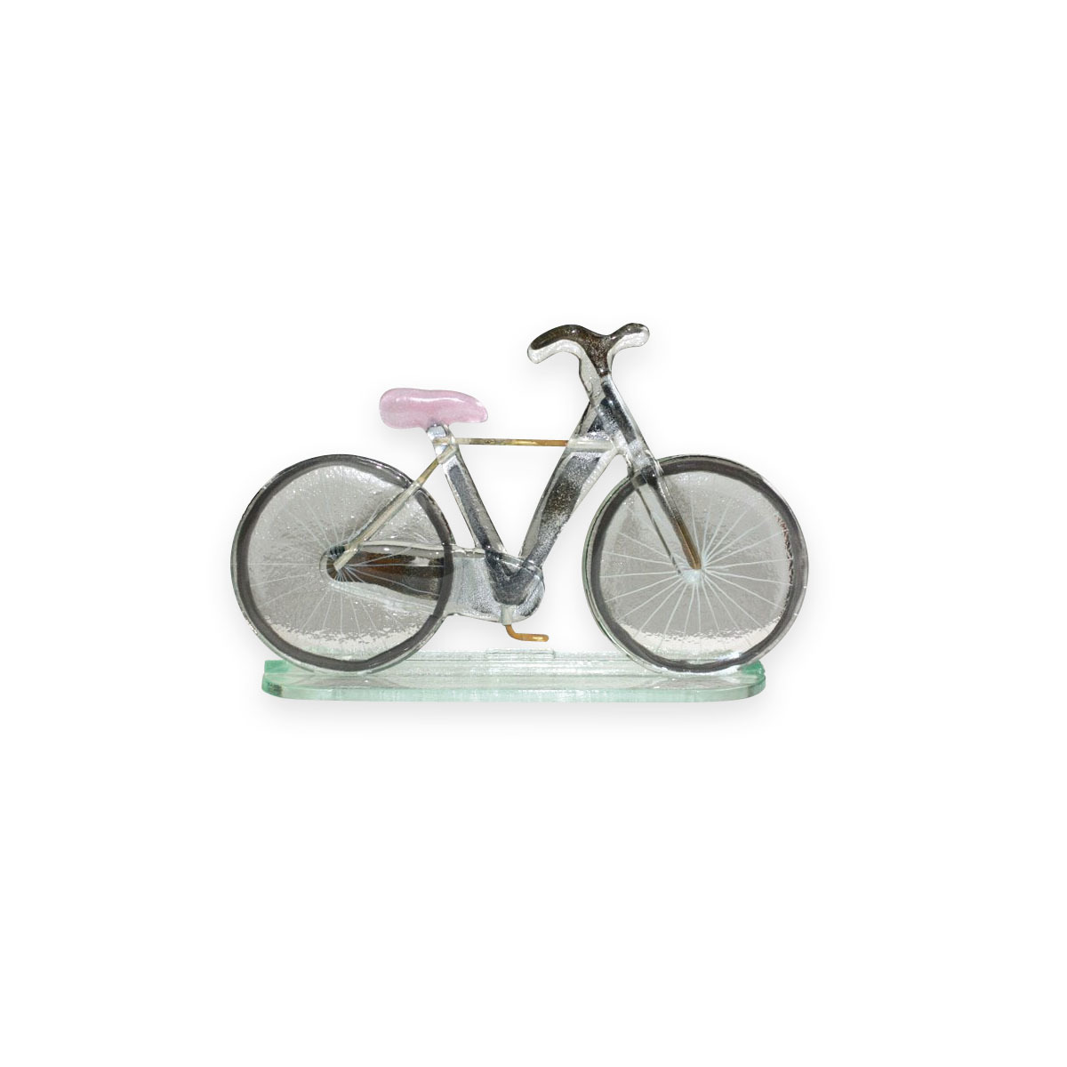 Nobile Fused Glass Bicycle - Pink Large 558-11