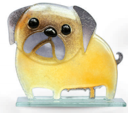 Nobile Fused Glass Pug Fawn - Small