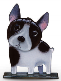 Nobile Fused Glass French Bulldog Pied