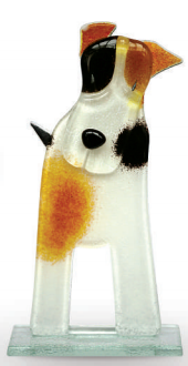 Nobile Fused Glass Terrier Patch