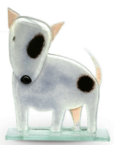Nobile Fused Glass Bull Terrier Charcoal