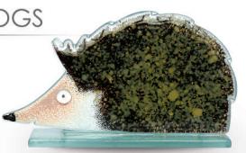 Nobile Fused Glass Hedgehog 2014-19