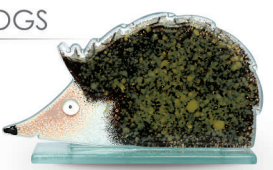 Nobile Fused Glass Hedgehog