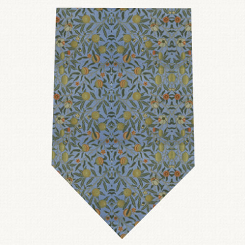 V&A William Morris Fruit Blue - Silk Tie by Fox & Chave 41881