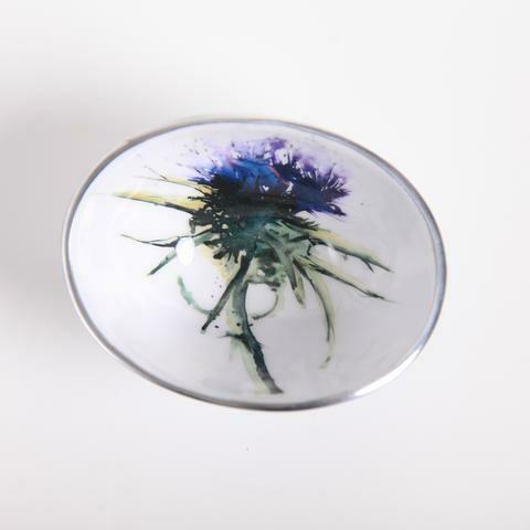 Meg Hawkins Thistle Oval Bowl - 18cm