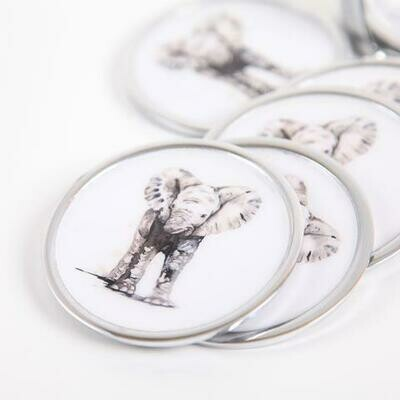 Meg Hawkins Baby Elephant Coasters Set of Six