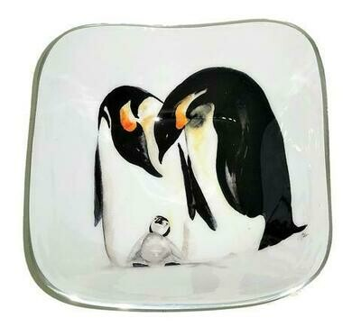 Meg Hawkins Penguin Family Square Bowl - 16cm