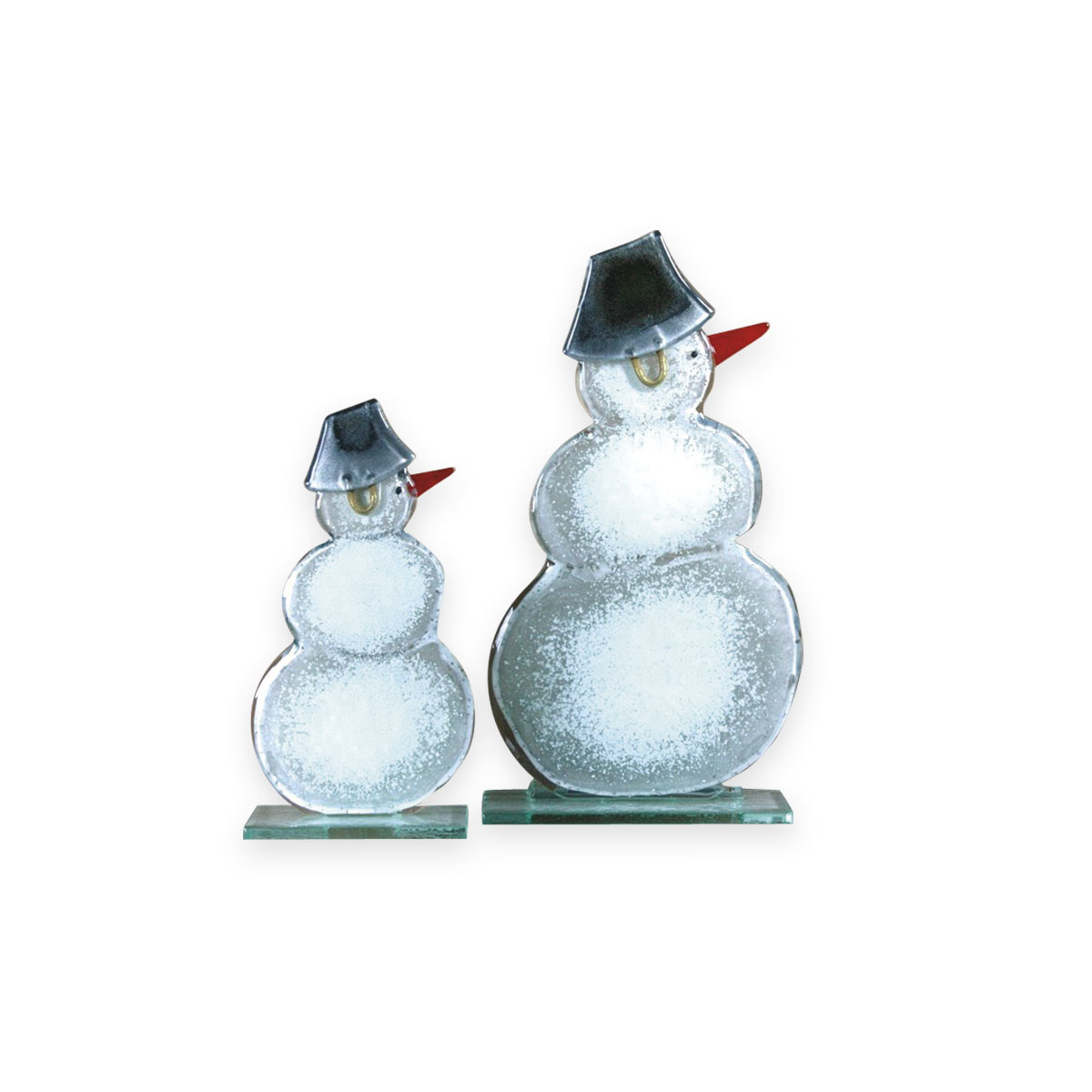 Nobile Glass Large Fused Glass Snowman Large 859-13