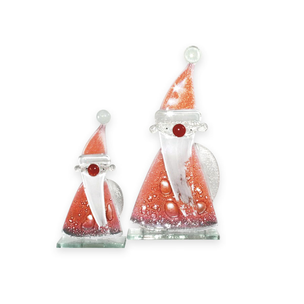 Nobile Glass  Fused Glass Red Santa Large 861-13