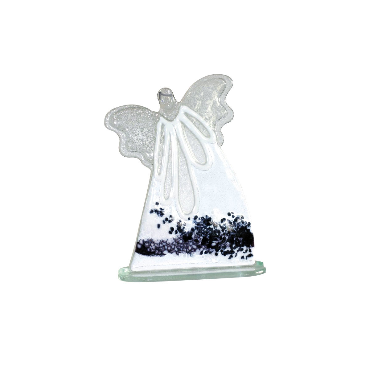 Nobile Glass Large Fused Glass White Angel 1103-14