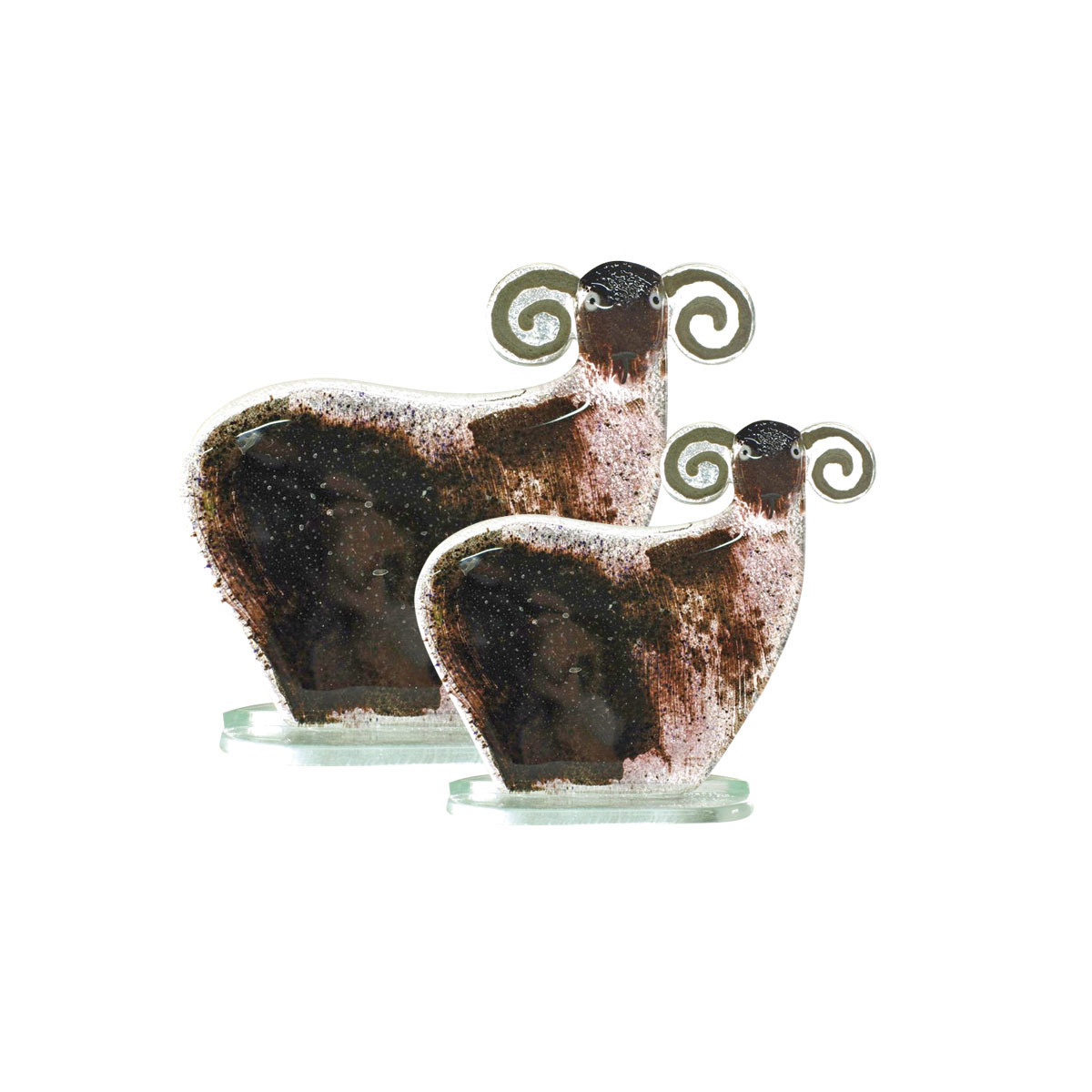 Nobile Glass Fused Glass Black Sheep Small 1053-14