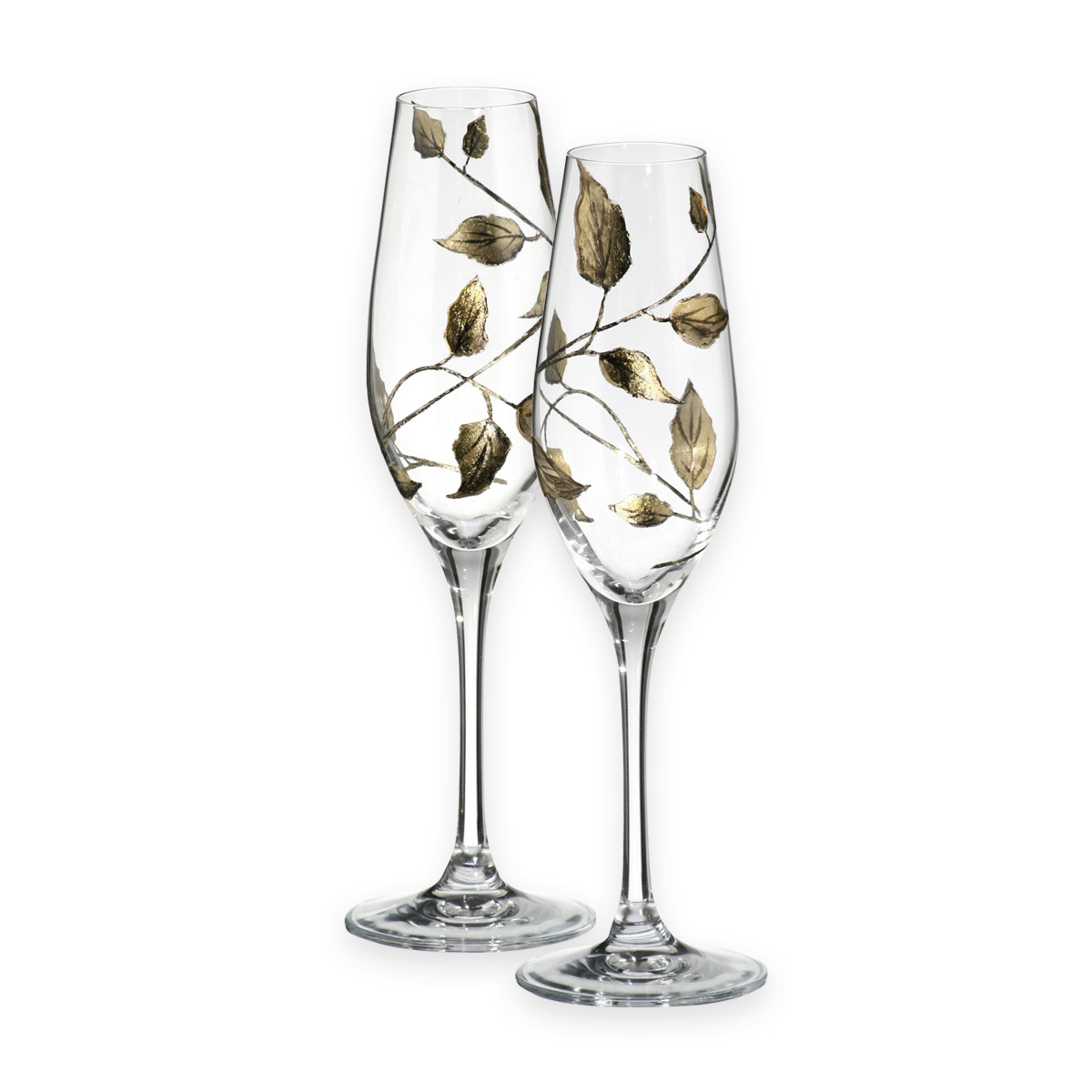 Nobile Gold Leaf Champagne Glasses Pair 1453-15
