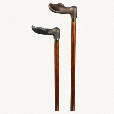 Classic Canes Soft-touch Fischer, right hand, dark brown, hardwood shaft