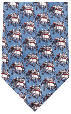Indian Elephant Silk Tie by Fox & Chave