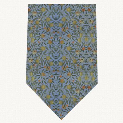 V&A William Morris Fruit Blue - Silk Tie by Fox & Chave