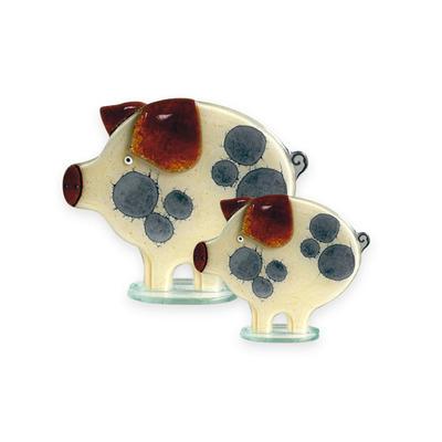 Nobile Fused Glass Pig- Honey (Large)