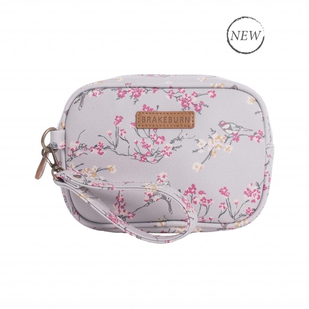 Brakeburn Bird Blossom Small Wash Bag - Grey BBLBAG001367S17