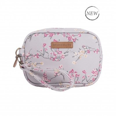 Brakeburn Bird Blossom Small Wash Bag - Grey