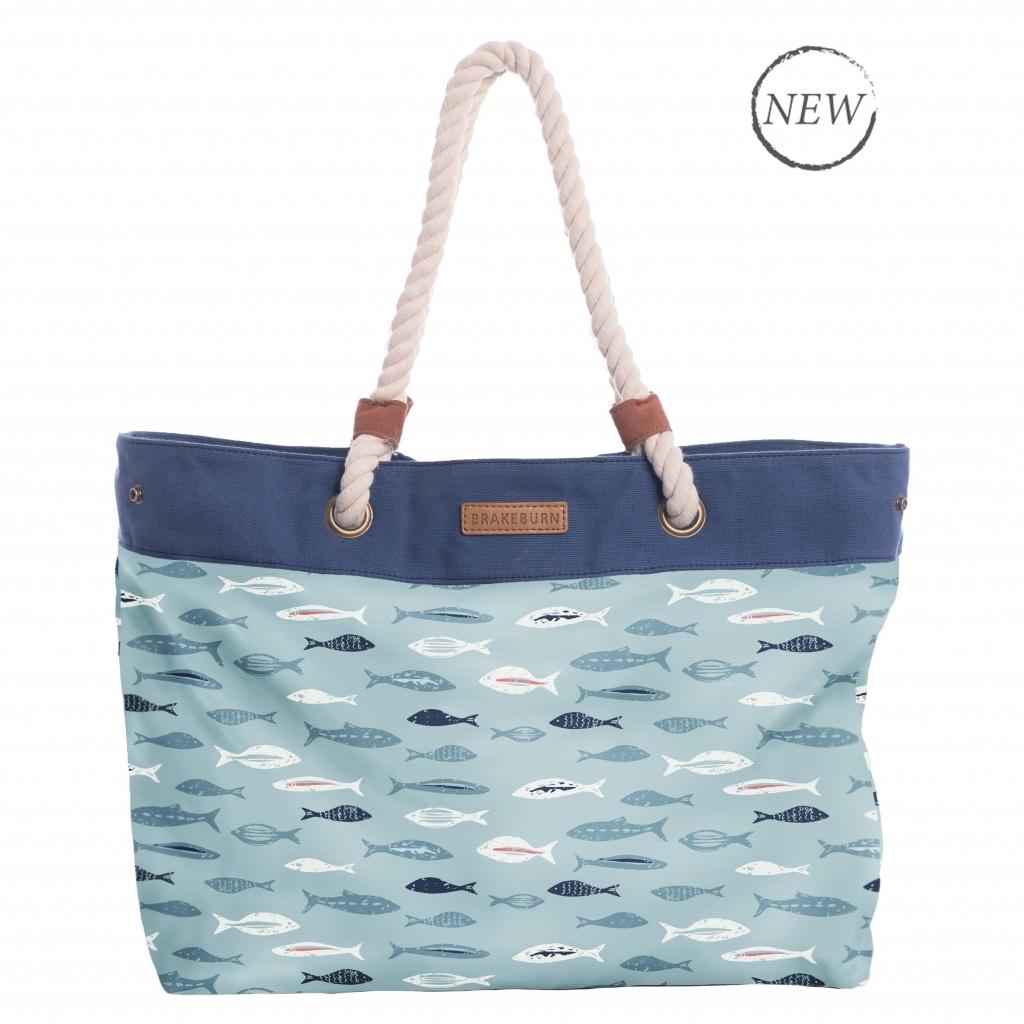 Brakeburn Fishes Beach Bag Blue BBLBAG001338S17