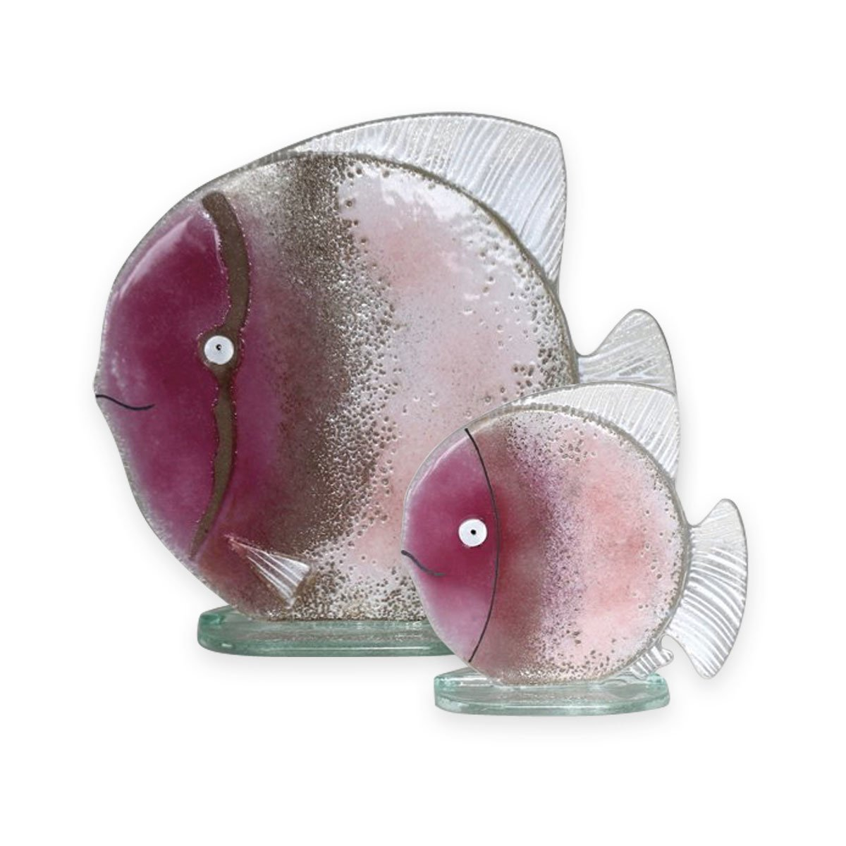 Nobile Glass Fused Glass Fish Pink Small