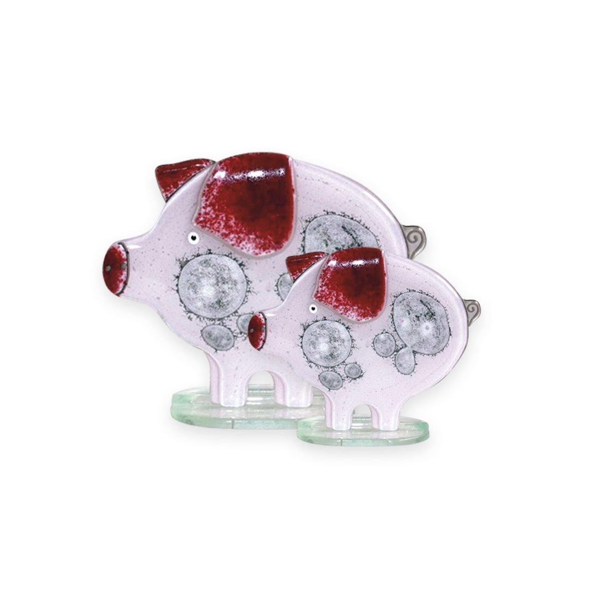 Nobile Fused Glass Pig- Pink Large