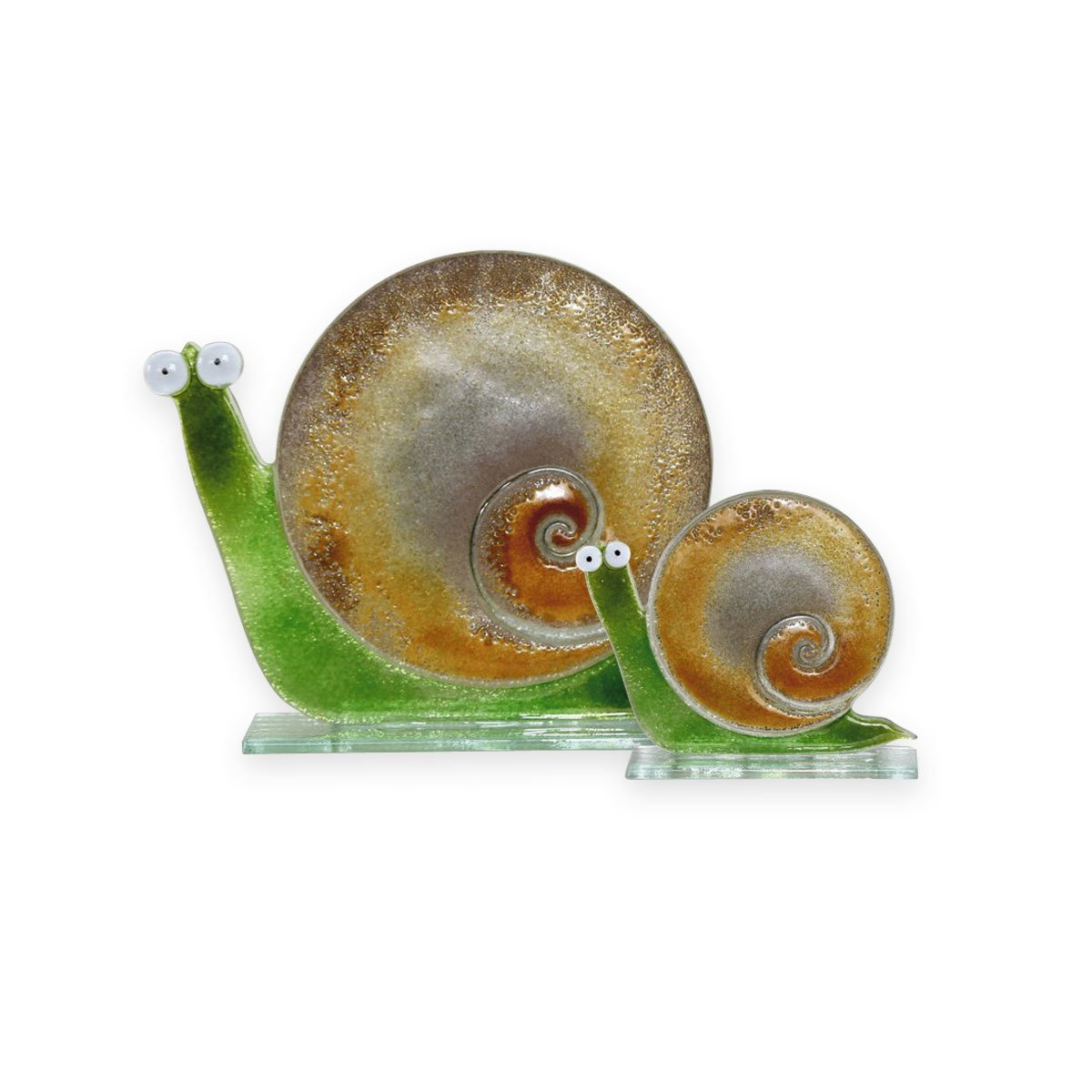 Nobile Glass Fused Glass Snail Gold Large