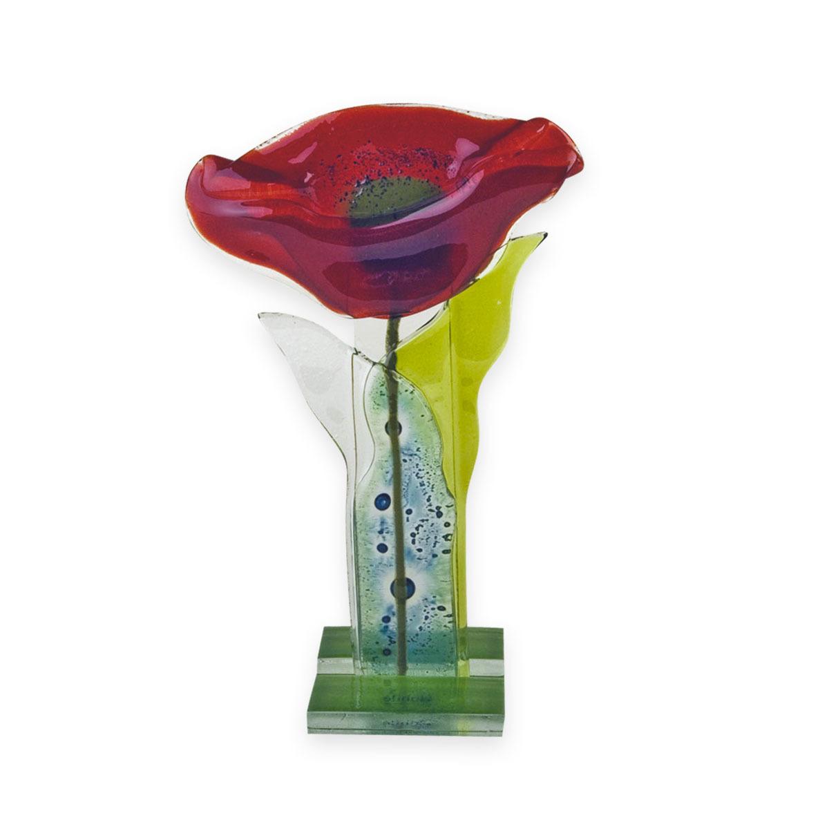 Nobile Fused Red Flower Stem -25cm 247