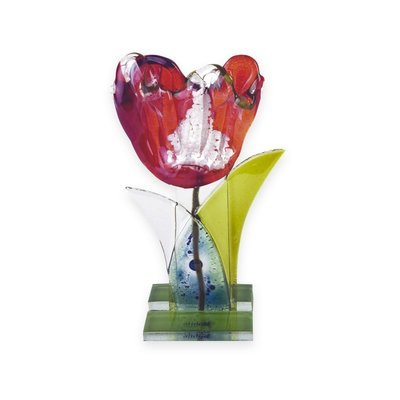 Nobile Fused Red Flower Stem -19cm