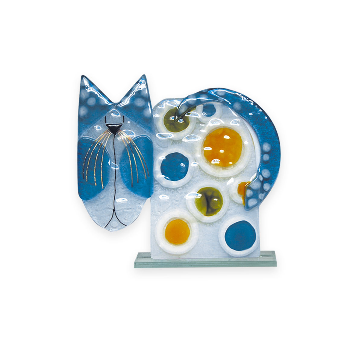 Nobile Fused Glass Cat 196