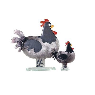 Nobile Fused Glass Hen Black