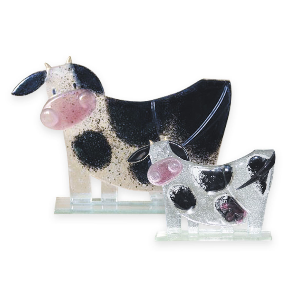 Nobile Fused Glass Moo Moo Black large 410L