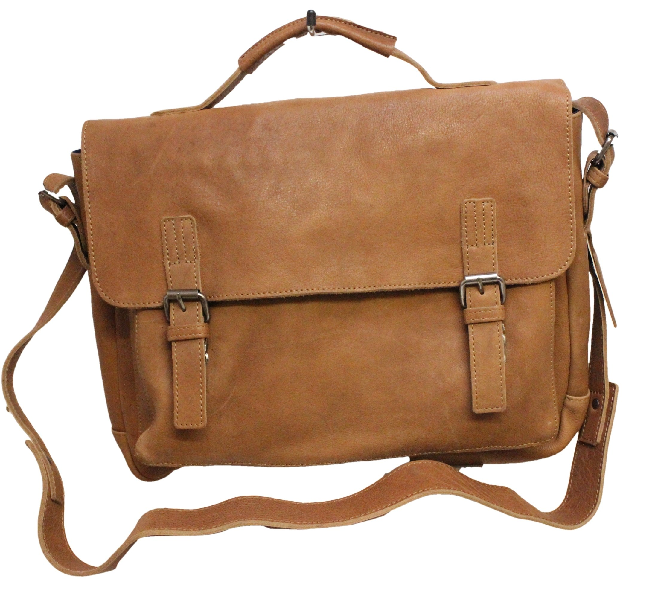 Ashwood Leather Bradley Briefcase Tan Bradley