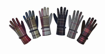 Earth Squared Tweed Gloves - Pewter