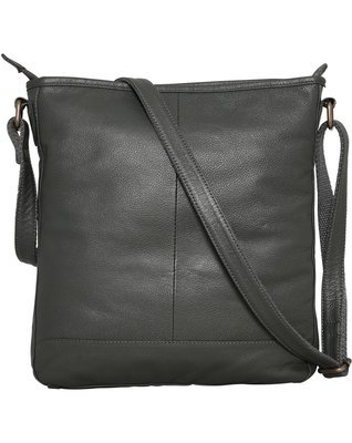 Brakeburn Large Leather Saddle Bag in Dark Green