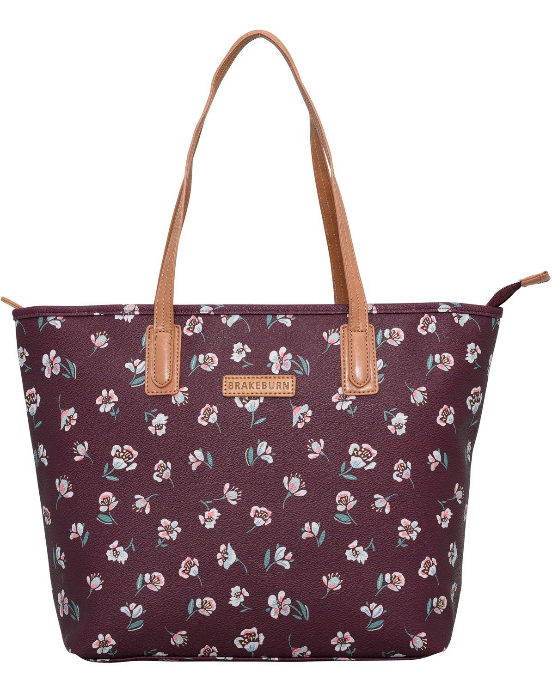 Brakeburn Floating Floral Tote Bag Textured PU