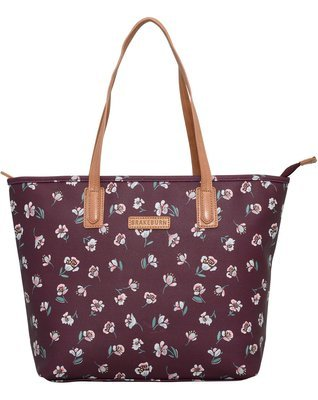 Brakeburn Floating Floral Tote Bag Textured PU