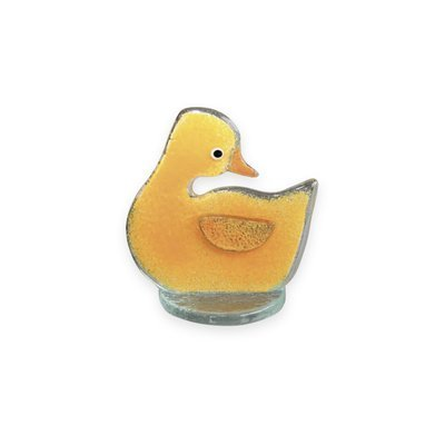 Nobile Glass Fused Glass Yellow Duckling