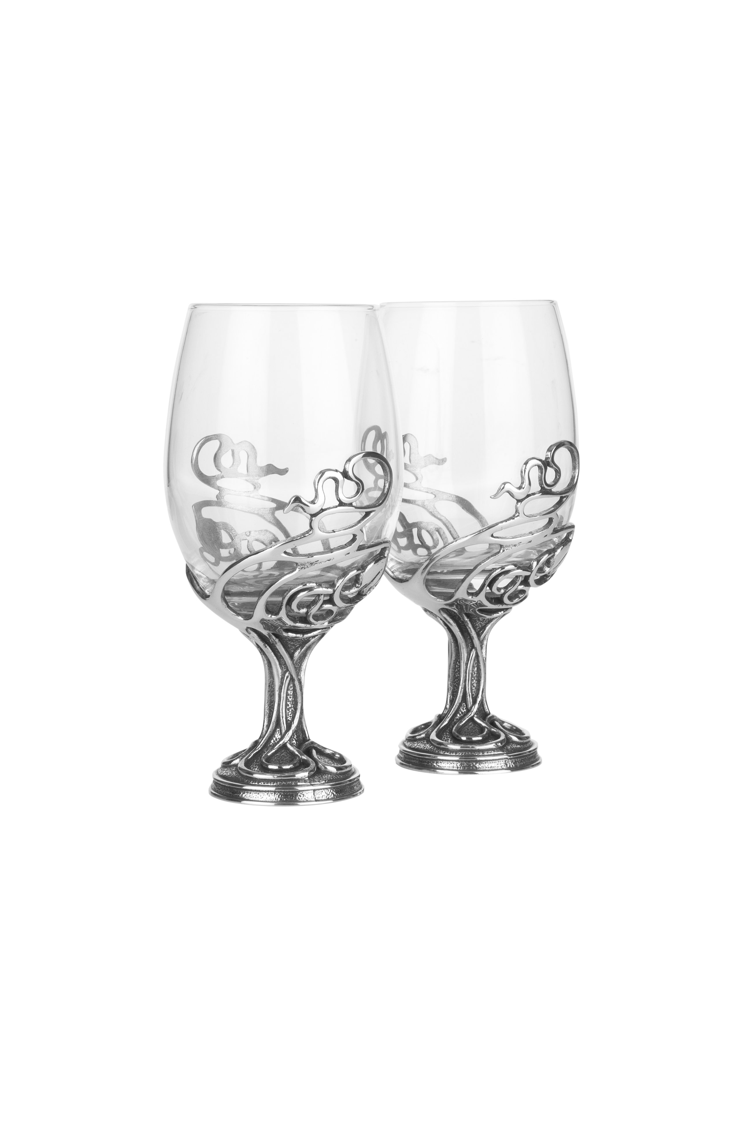 Swirl Wine Glass Design Glass Pair from A E Williams WINE02